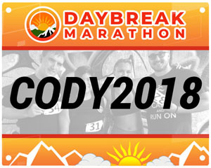 Day Break Marathon Sample BIB